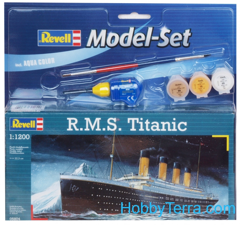 Model Set. R.M.S Titanic