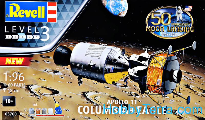 Revell  03700 Model Set - Command Module Colombia and Lunar Module Apollo Eagle Mission 11