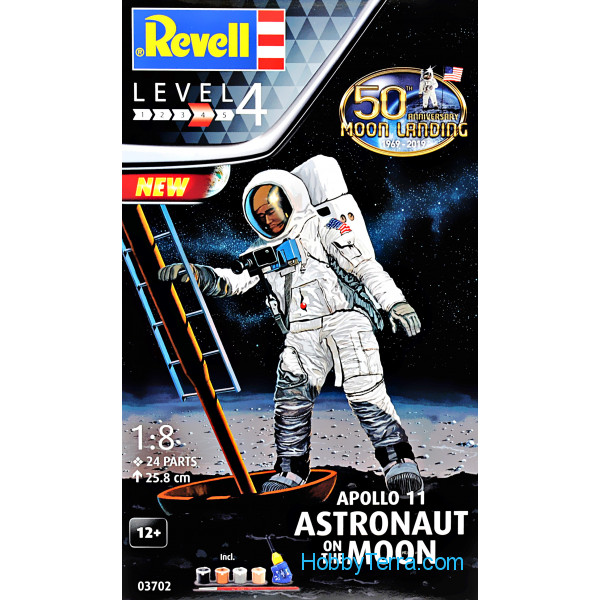 Revell  03702 Model Set - Astronaut on the moon. Mission apollo 11