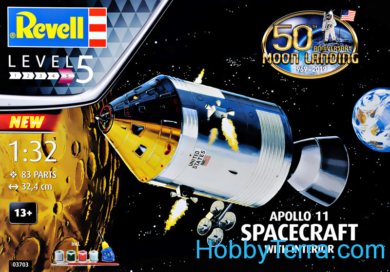 Revell  03703 Model Set - Command Module Colombia Mission Apollo 11