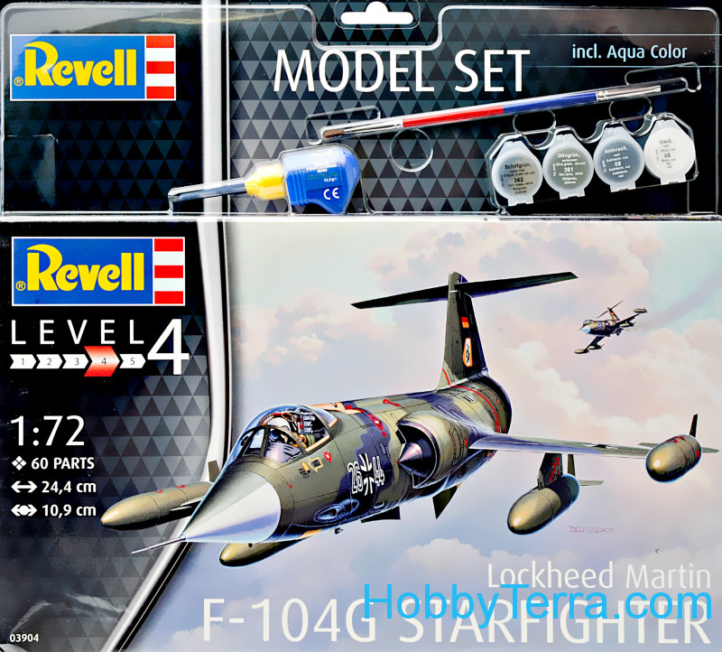 "Revell  63904 Model set - Fighter F-104 ""Starfighter"""