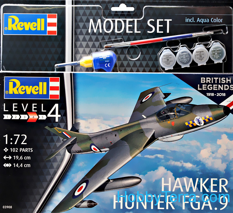 "Revell  63908 Model set - Fighter-Bomber Hawker ""Hunter"" FGA.9"