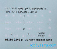 US Army vehicles, WWII (6 models in box)