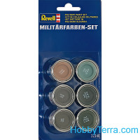 Military color set (6x14ml), for AFV and aircraft