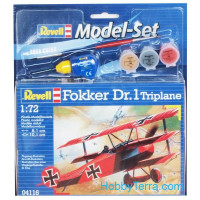 Model Set. Fokker DR.1 Triplane