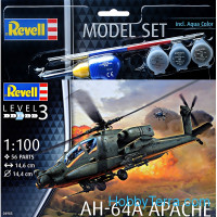 "Model Set. Attack helicopter AH-64A ""Apache"""