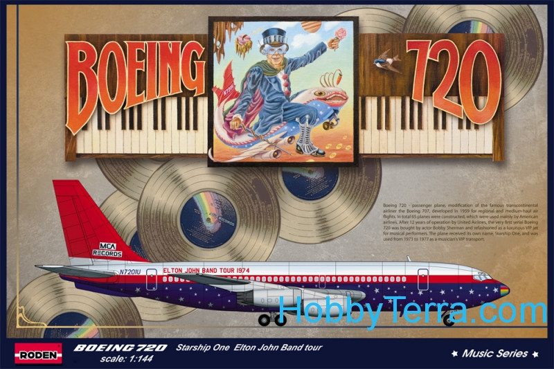 Boeing 720 Starship one Elton John Band tour