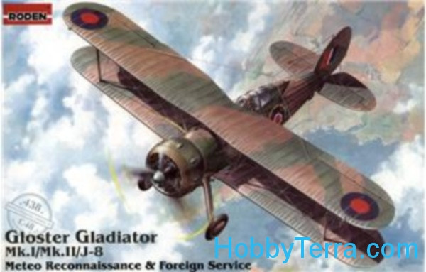 Gloster Gladiator Mk.I/Mk.II/J-8 Metco reconnaissance & foreign service