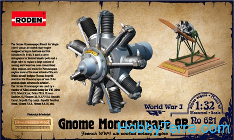 Roden  621 Gnome Monosoupape 9B, engine