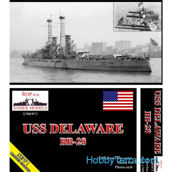 USS Delaware BB-28 battleship, 1912 (resin kit)