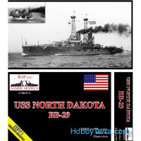 USS North Dakota BB-29 battleship, 1912 (resin kit)