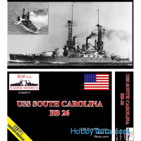 USS South Carolina BB-26 battleship, 1908 (resin kit)