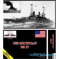 USS Michigan BB-27 battleship, 1912 (resin kit)