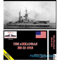 USS Arkansas BB-33 battleship, 1918 (resin kit)