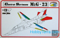Detailing set 1/72 MiG-23 Control Surfaces