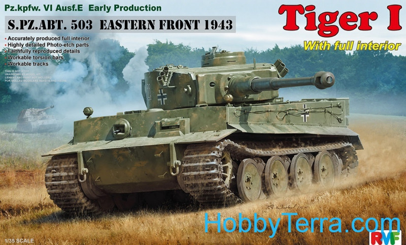 Tiger I, early production, Eastern Front 1943 W/ Full Interior