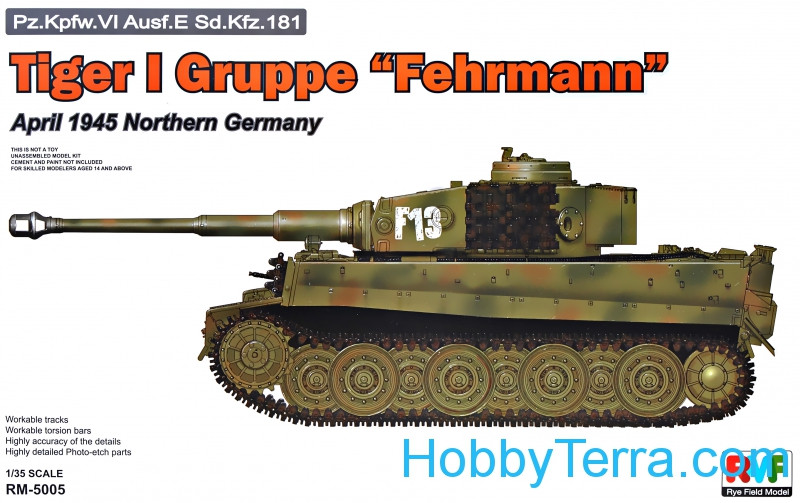 "Tiger I Gruppe ""Fehrmann"", April 1945 Northern Gerrmany"
