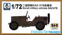 Soviet military vehicle GAZ-67B (2 model kits in the box)