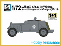 Maschinengewehrkraftwagen (Kfz.13) (2 model kits in the box)