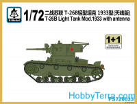 T-26B light tank Mod. 1933 (2 model kits in the box)