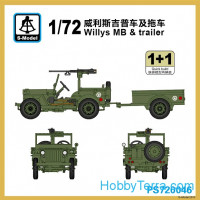 Willys MB with trailer (2 model kits in the box)