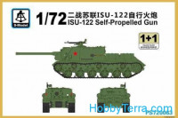 ISU-122 self-propelled gun (2 sets in the box)