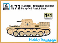 Pz.Kpfw.I Ausf.B DAK tank (2 model kits in the box)