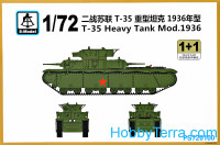 T-35 tank model 1936 (2 model kits in the box)