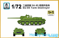 SU-85 tank destroyer (2 model kits in the box)