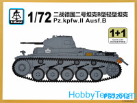 Pz.kpfw.II Ausf.B tank (2 model kits in the box)