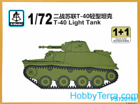 T-40 light tank (2 model kits in the box)