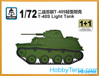 T-40S light tank (2 model kits in the box)