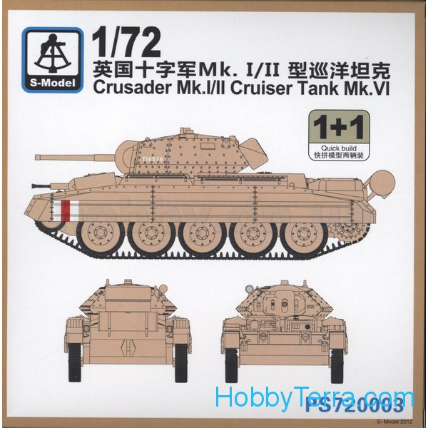 Crusader Mk.I/II Cruiser tank Mk.VI (2 model kits in the box)