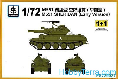"M551 ""Sheridan"", early prod. (2 sets in the box)"