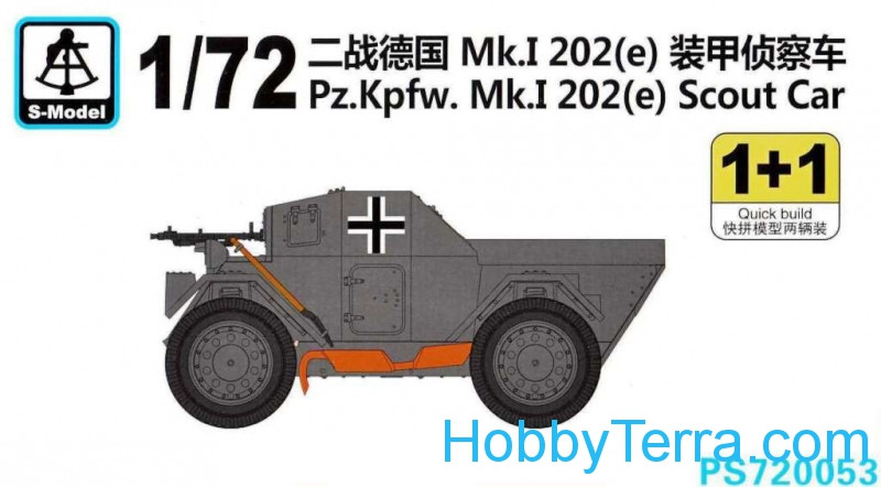 Pz.Kpfw.Mk.I 202(e) Scout Car (2 sets  in the box)