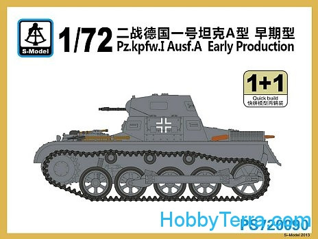 Pz.Kpfw.I Ausf.A, early prod. (2 sets in the box)