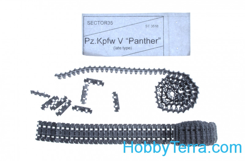 Assembled metal tracks for Pz.Kpfw V Panther, late type