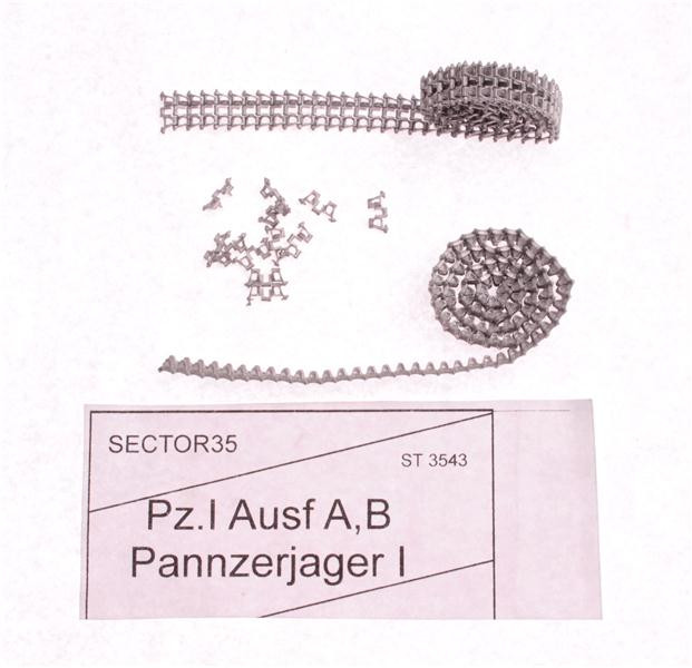Sector35  3543 Assembled metal tracks for Pz.I Ausf.A,B Panzerjager I