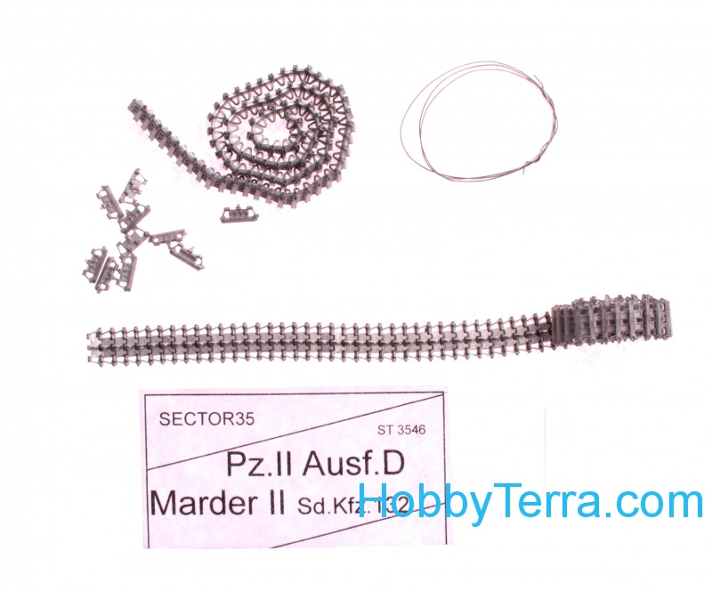 Assembled metal tracks for Pz.II Ausf.D