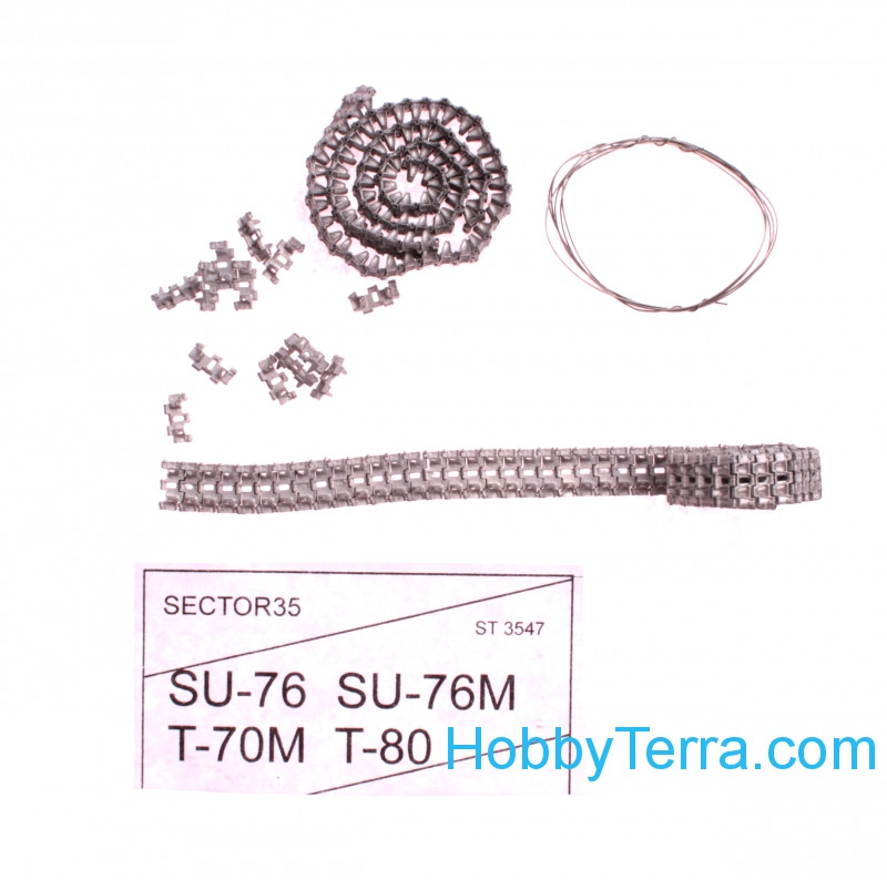Sector35  3547 Assembled metal tracks for T-70M, T-80, Su-76, Su-76M