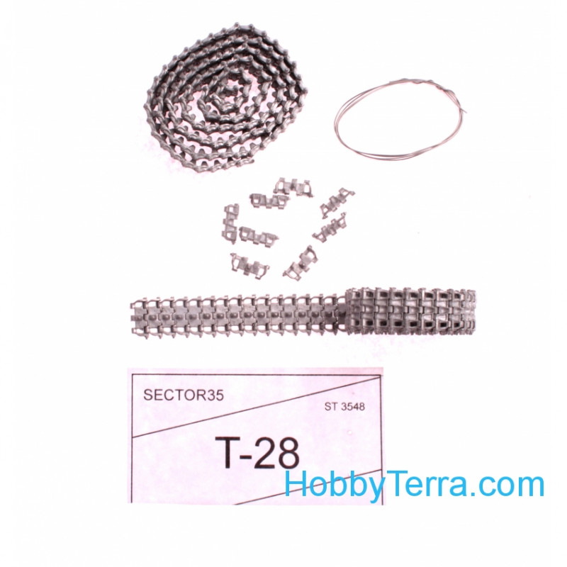 Assembled metal tracks for Soviet medium tank T-28