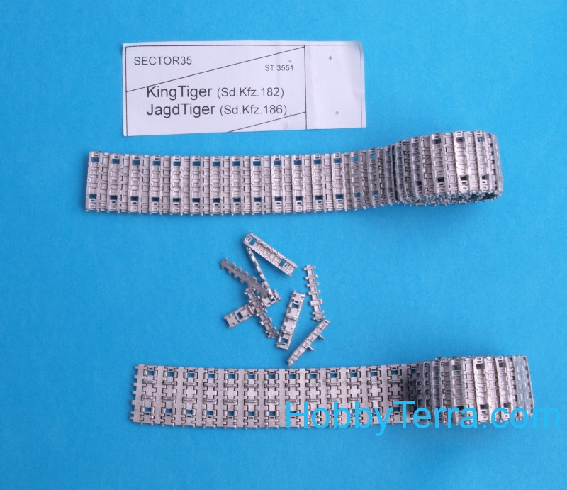 Assembled metal tracks for King Tiger, Jagd Tiger
