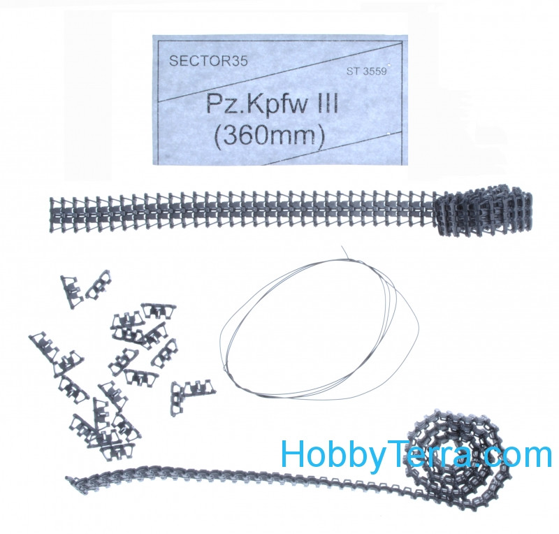 Sector35  3559 Assembled metal tracks for Pz.kpfw. III 360 mm