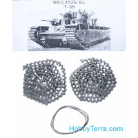 Assembled metal tracks for T-35