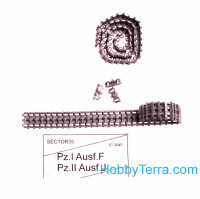 Assembled metal tracks for Pz.I Ausf.F, Pz.II Ausf.J