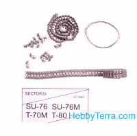 Assembled metal tracks for T-70M, T-80, Su-76, Su-76M