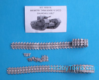 "Assembled metal tracks for ""Churchill"" British infantry tank"