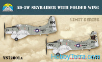Skyraider AD-5W with folded wings. Limited edition