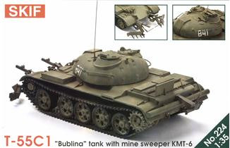 "T-55C1 ""Bublina"" tank with mine sweeper KMT-6"