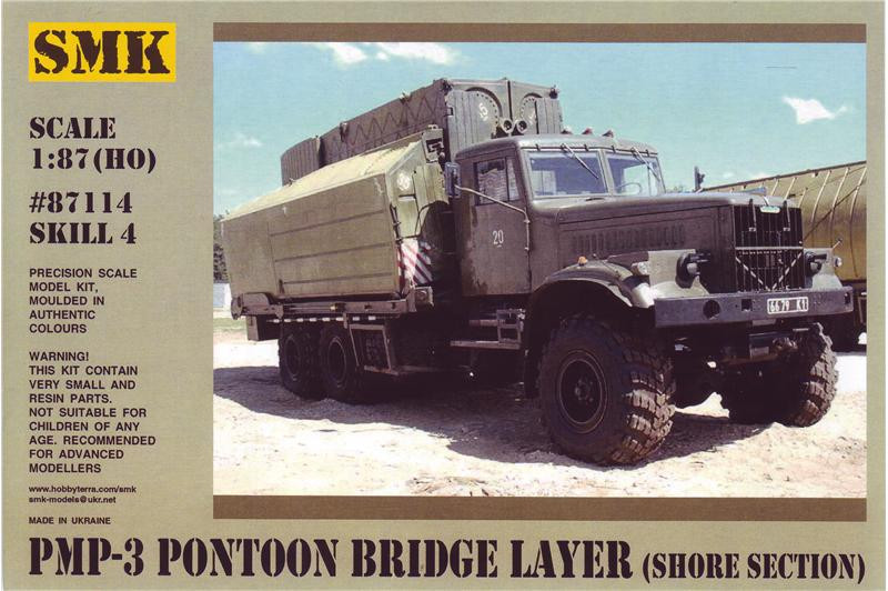PMP-3 Pontoon bridge layer, shore section